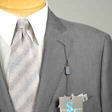 48R STEVE HARVEY  2B Gray SUIT SEPARATE  48 Regular Mens Suits - SS20