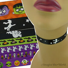 Custom MONSTERS Choker Halloween Necklace spooky mummy vampire ghost witch masks