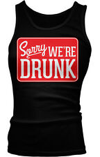 Sorry We're Drunk Funny Humor Sunday Shenanigans Boy Beater Tank Top