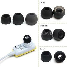 Black/White S M L Silicone In-ear Earphone Headphone Headset Earbuds Rubber Tips