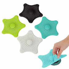 White/Black Shower Drain Cover Starfish Hair Catcher Rubber Bath Strainer
