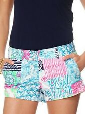 LILLY PULITZER WALSH SHORTS MULTI OSTERVILLE PATCH NWT 2,8,10