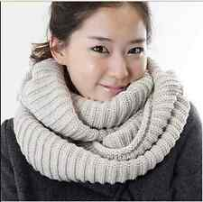 Hot Sell Women Winter Warm Scarf Shawl 2 Circle Neck Long Cable Knit Scarves New