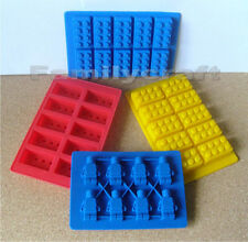 SILICONE MOULD ONE ICE CUBE CAKE TOPPER BRICK COOKIE CHOCOLATE BAKING JELLY MOLD