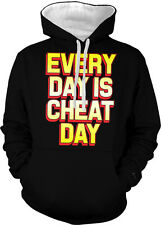 Every Day Is Cheat Day Funny Humor Diet Joke Splurge Meal 2-tone Hoodie Pullover
