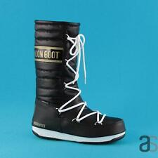 MOON BOOT WE QUILTED BLACK GOLD DOPOSCI MOON BOOT 240034 003
