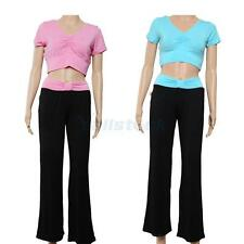 Ladies Women's Short-sleeve Yoga Clothes Set Sports Fitness Clothing Suits