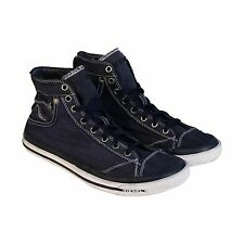 Diesel Mens Exposure I Blue Textile High Top Lace Up Sneakers Shoes