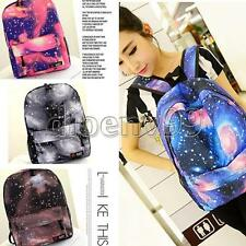US Seller New Galaxy Pattern Canvas Leisure Schoolbags Rucksack Travel Backpack