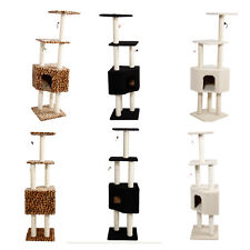 "New Kitty 55"" Cat Tree Condo Furniture Scratch Post Pet House 3 Color 2 Style"