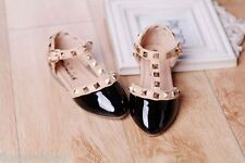 Girls High Fashion Stud Formal Shoes Baby Shoes Party Shoes velcro shoes