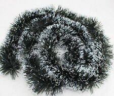 1-10Pcs Dark Green & Snow Tinsel Christmas Decorations Tree 1.75 Meters