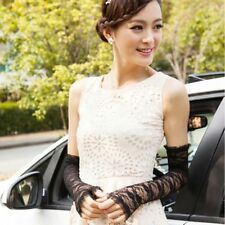 2015 New Lace Sexy Fingerless Wedding Party Travel Long Lace Arm Elbow Gloves