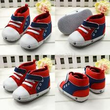 Baby Sneaker Crib Shoes Comfy Toddler Soft Bottom Soccer Lace Up Shoe Boots L98