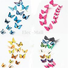12 Pcs 3D Wall Stickers Butterfly Fridge Magnet for Wedding Home Room Decoration