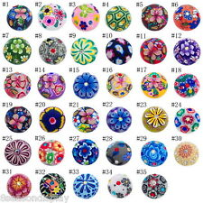 1PC Snap Button Fit Snap Bracelet Rhinestone Polymer Clay Flower 18mm