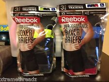 Lot Of 3 Reebok Training Performance Boxer Briefs Size Medium  and Large NWT