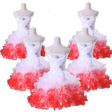 Short Lady Girl Bridesmaid Gown Prom Party Formal Evening Mini Quinceanera Dress