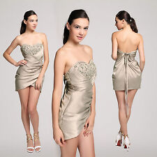 Womens Sexy Bling Strapless Sweetheart Wrap Cocktail Party Clubbing Mini Dress