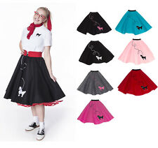 Hip Hop 50s Shop Womens Poodle Skirt Vintage Style Halloween or Dance Costume