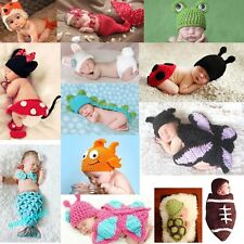 Baby Girls Boy Newborn-9M Crochet Mermaid Minnie Clothes Photo Prop Outfits Cute