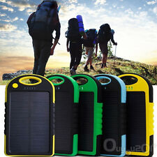 5000mAh Waterproof Solar Panel Power Bank Charger For Mobile Phones + Climb Bolt