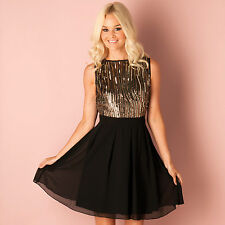 Womens Little Mistress Gold And Black Dress A Girl Can't Have Too Many Dresses