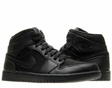 Nike Air Jordan 1 Mid Black Mens Basketball Shoes 554724-011