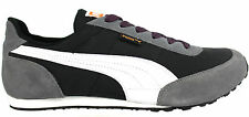 Puma Maya NM Mens Boys Suede Textile Lace Up Black/Grey Trainers 350860 07  U38