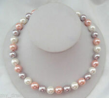 8mm 10mm 12mm 14mm white pink purple South Sea Shell Pearl Necklace 18''