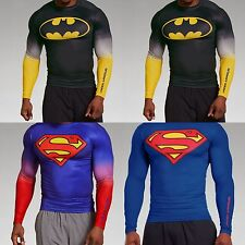 Nwt Under Armour Compression Super Hero Long Sleeve Shirt T-Shirt