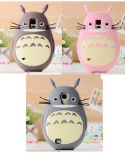 Cute 3D Animal Cartoon Totoro Silicone Case Cover Skin Cover For Mobile Phones