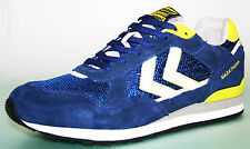 MENS HUMMEL MARATHONA LOW TRAINERS NAVY/YELLOW BNIB SIZE 7 10 Eu 41 & 44 FS630B