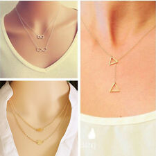 Women Pendant Chain Infinity Choker Chunky Statement Bib Charm Necklace Jewelry