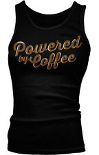 Powered By Coffee Caffeine Addiction Funny Humor Joke Boy Beater Tank Top