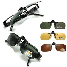 3 Color Polarized Night Vision Flip-up Clip on Lens Sunglasses Driving Glasses