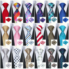 Classic 40 Colors 100% Silk Jacquard Woven Tie Set Men's Necktie Party&Wedding