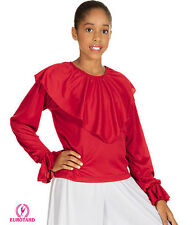 Liturgical Dance/Praisewear Girl's White Shawl Collar Blouse ~ New ~ # 113