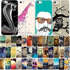Scenery Cartoon Paints Draw Case Cover Hard Back Shell For iPhone 4 4S 5 5S 5C