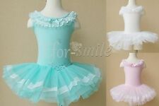 Girls Kids Princess Ballet Dance Party Tutu Dress Leotard Dancewear Costume 3-8