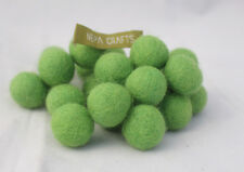 2 cm/ 20 mm Hand-felted Wool  25 counts of Felt Balls by Fair Trade Group Nepal