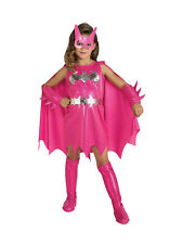 Child Batman Pink Batgirl Fancy Dress Costume Book Week Superhero Kids Girls