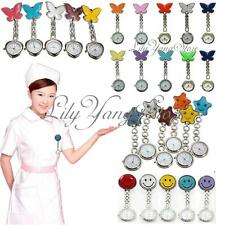 Mixed Nurse Clip-on Fob Brooch Pendant Hanging Fobwatch Butterfly Pocket Watches