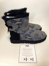 UGG Australia Mini Bailey Bow Snake Black Boot womens size 5-11/36-42 NEW!!!
