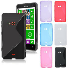 S Line Hybrid [Clear/Matte] Soft TPU Gel Silicone Case Cover For Nokia Lumia 625
