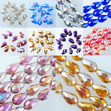 Free shipping 10x14mm Top Quality Czech Crystal Faceted Drop Beads Jewelry BA027