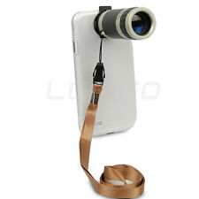 Telescope Camera 8X Zoom Lens Crystal Clear Case Cover For iPhone Samsung JEF
