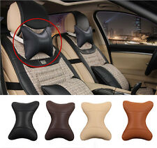 Car Auto Seat Head Neck Rest Headrest Pillow Cushion Belt Pad PU Leather 4 Color
