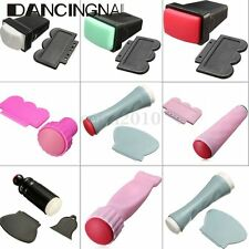 Rubber Nail Art Polish Stamp Single/Double Side Stamper Scraper Manicure Tool US