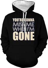 You're Going To Miss Me When I'm Gone Music Lyrics 2-tone Hoodie Pullover